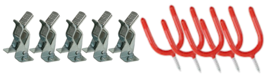 Tool hangers and clips