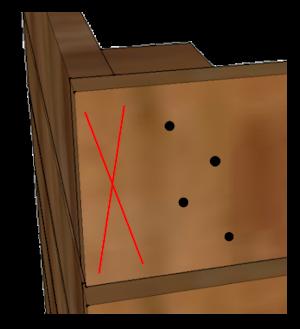 Attaching back corners
