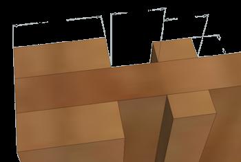 Divider panel detail
